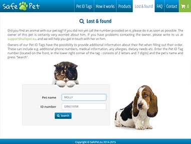 Pet search