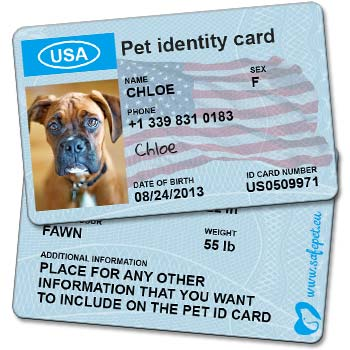 Pet Wallet ID Cards picture